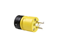 20A, 250V Rubber Dust-Tight Plug, Yellow