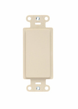 Wall Plate Inserts, Changes Decorator Opening to Blank, Box Mounted, Ivory