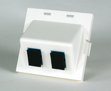 Series II Module, 2-SC Simplex (2 Fibers) Multimode, Aqua adapters, 180 degree exit