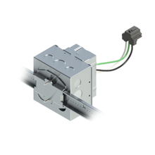 4'' Square Box with 1-Gang Adj. Plaster Ring and 1 Grounded PlugTail Receptacle Connector with protective mud cover - Box of 10 [EF000036]