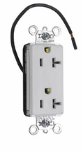 PlugTail® Decorator Split Circuit Spec Grade Receptacle, 20A, 125V, White