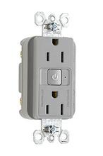 15A, 125V Plug Load RF Half-Control Fed Spec Receptacle, Grey