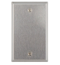 1-Gang Blank Wall Plate, Stainless Steel