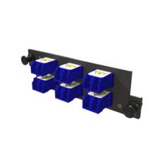 Infinium M4 HDFP Adapter Panel, 6 Keyed Front Keyed Rear LC Duplex Adapters, 12 Fiber, Blue