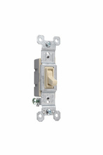 15A, 120V TradeMaster® Self-Grounding/Single-Pole Toggle Switch, Ivory