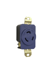 20 Amp NEMA L520 Single Receptacle, Blue