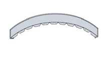 DIVIDER STRIP FLEXIBLE-STAINLESS (2D,0.5W,72L) [943425]