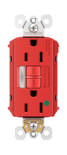 PlugTail® Hospital-Grade Tamper-Resistant 15A Self-Test Night Light/GFCI, Red