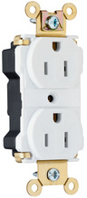 PlugTail® Industrial Extra Heavy-Duty Spec Grade Receptacles, 15A, 125V, White