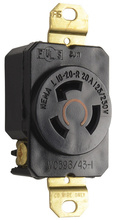 20 Amp NEMA L1020 Single Receptacle