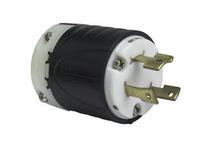 30 Amp NEMA L1230 Plug - Black Back, White Front Body