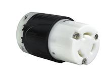 30 Amp NEMA L1130 Connector - Black Back, White Front Body