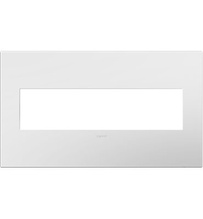 Gloss White-on-White 4-Gang Wall Plate