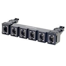 HDJ Series 6 MPO to MPO Fiber Adapter Panel, up to 144-Fiber Aligned Key - Slate/Gray