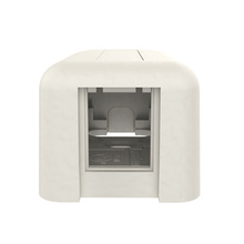 HDJ Plastic Surface Mount Box -  Single Port -  Fog White