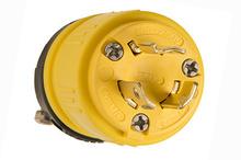 Rubber Dust-Tight Locking Plug,Yellow