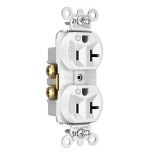 Hard-Use Spec Grade Plug Load Controllable Receptacle, 20A, 125V, White