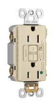 Hospital-Grade Audible Alarm Tamper-Resistant 15A Self-Test Duplex GFCI, Light Almond