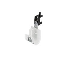 1'' White Plastic Coated J-Hook w/ Latch & Screw-on Beam Clip 1/2'' Box of 25 [F000672]