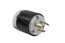 20 Amp NEMA Plug L620 - Black Back, White Front Body