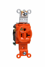 Isolated Ground Heavy-Duty Spec Grade Single Receptacles, Back & Side Wire, 20A, 125V, Orange