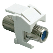 Recessed Nickel Self-Terminating F-Connector, White