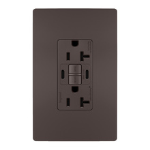 radiant® 20A Tamper-Resistant Self-Test GFCI USB Type-CC Outlet, Brown