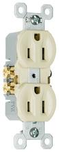 15A/125V TradeMaster® Duplex Receptacle, Ivory