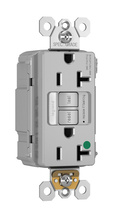PlugTail® Hospital-Grade Tamper-Resistant 20A Self-Test Night Light/GFCI, Gray