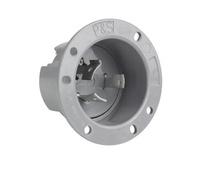 30 Amp NEMA L1230 Flanged Inlet, Gray