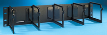 Cable Management Panel - five horizontal plastic distribution rings 3.95 H x 4.8 in D - 2 rack units - 3.5 in - black