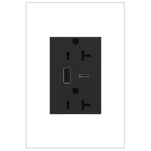 adorne 20A Tamper-Resistant Ultra-Fast USB Type A/C Outlet - Graphite