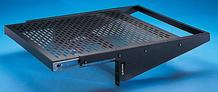 Vented Equipment Shelf - slide-out - 17.5 W x 4 in H x 18 in D - black