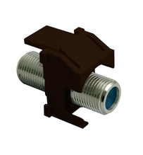 Recessed Nickel Self-Terminating F-Connector, Brown