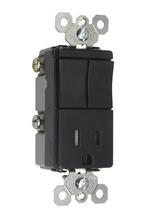 TradeMaster Decorator Combination Switch, Black