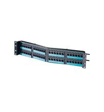 Clarity 6 angled 48-port Category 6 patch panel - six-port modules - 19 in x 3.5 in