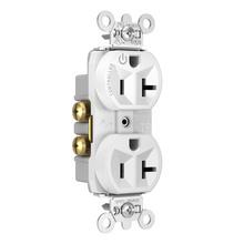 Hard-Use Spec Grade Plug Load Controllable Receptacle, 20A, 125V, White