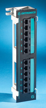 Clarity 5E 12-port - Category 5e mini patch on 89D bracket - 10 in x 2.3 in