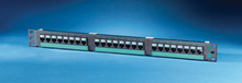 Clarity 5E 24-port panel - Cat 5e - high density - eight-port modules - 19 in x 1.75 in