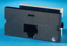 Series II, one-port Clarity 6, T568A/B, 180 degree, Black