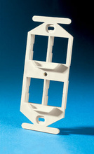 TracJack 106-Type Frame, Four-Port, Wiremold Ivory