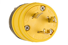 Rubber Dust-Tight Locking Plug, Yellow