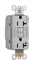PlugTail® NAFTA-Compliant Hospital-Grade 20A Self-Test Duplex GFCI, Gray