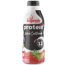 Soprole Leche Cultivada Protein+ sabor Frutilla 1 Lt