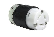 20 Amp NEMA Connector L1220, Black Back, White Front Body