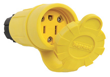 15A, 125V Watertight Connector, Yellow
