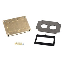Omnibox® Rectangular Brass GFI Cover Plate