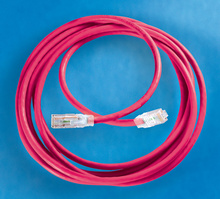 Clarity 6 Modular Patch Cord, 20', red
