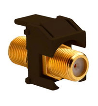 Recessed Gold F-Connector, Brown