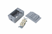 Weatherproof Outlet Kit, Gray